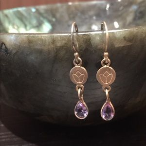 Dainty Gorgeous Satya Jewelry Amethyst Earrings